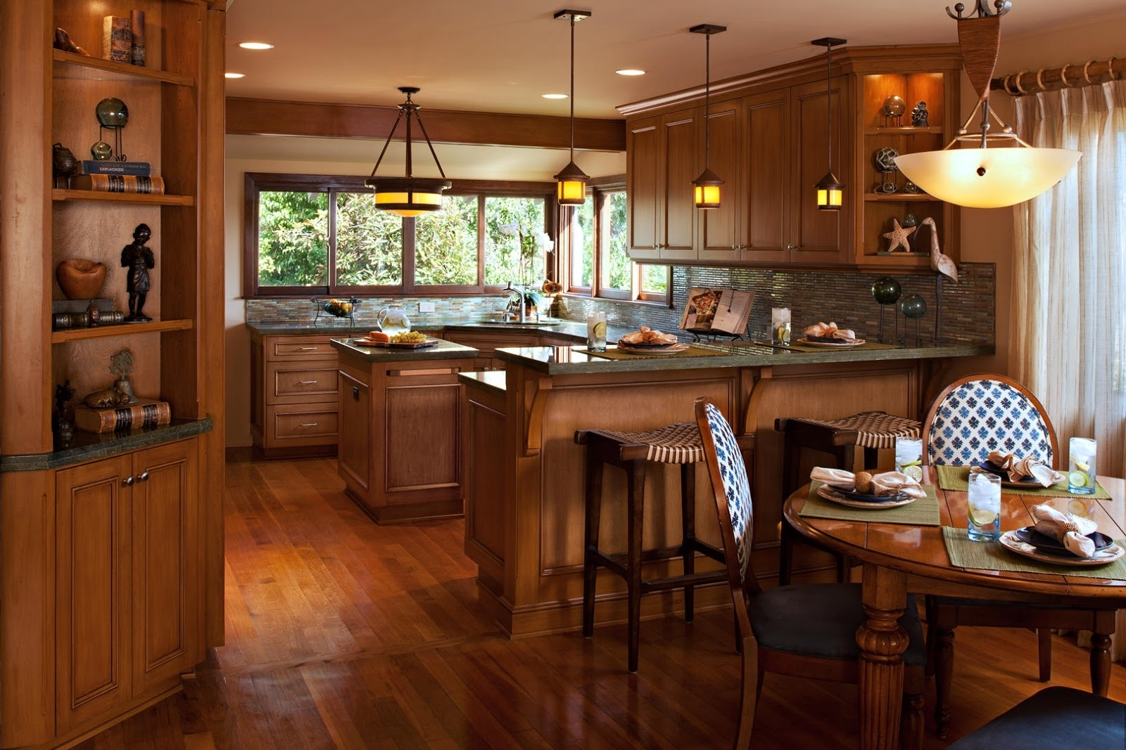 Popular Craftsman Round Dining Tables Within Home Priority: Astonishing Craftsman Style Interior Design Ideas For (View 13 of 25)