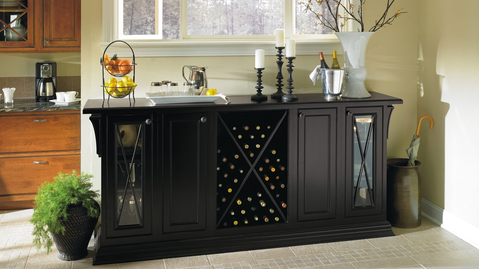 Popular Dining Room Cabinets Inside Black Storage Cabinet In Dining Room – Omega (View 6 of 25)