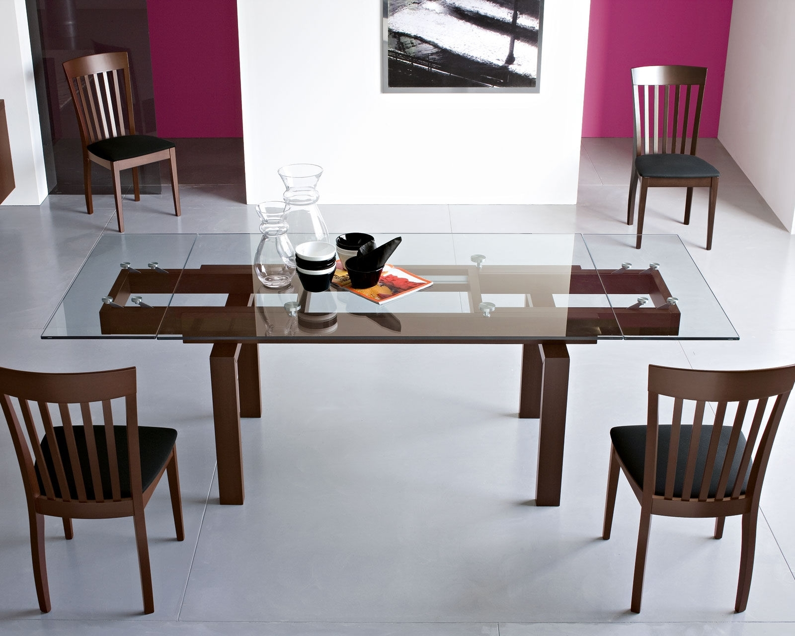 Popular Dining Table: Gorgeous Furniture For Modern Dining Room Decoration Throughout Extending Rectangular Dining Tables (View 23 of 25)