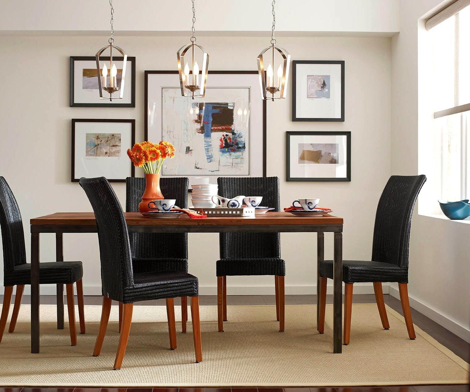 Popular Enjoyable Pendant Lights Dining Room Hanging Delier Dining Room Regarding Over Dining Tables Lights (View 16 of 25)
