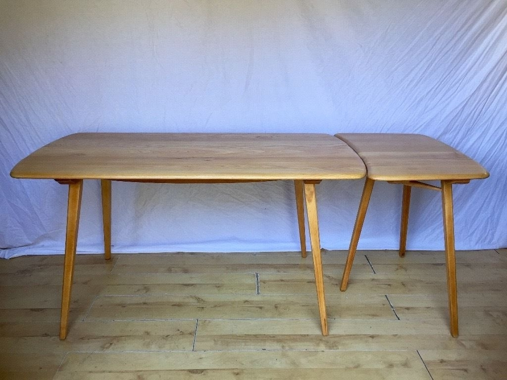 Popular Ercol Vintage Plank Dining Table And Extention Extension (View 11 of 25)
