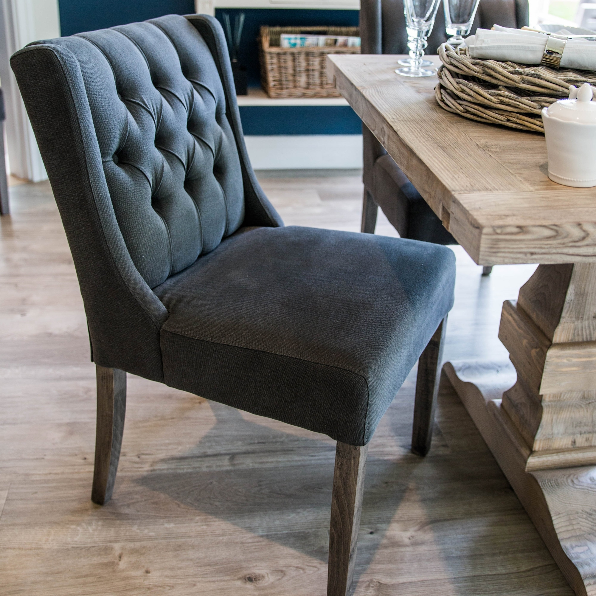 Popular French Button Backed Dining Chair (Gallery 13 of 25)