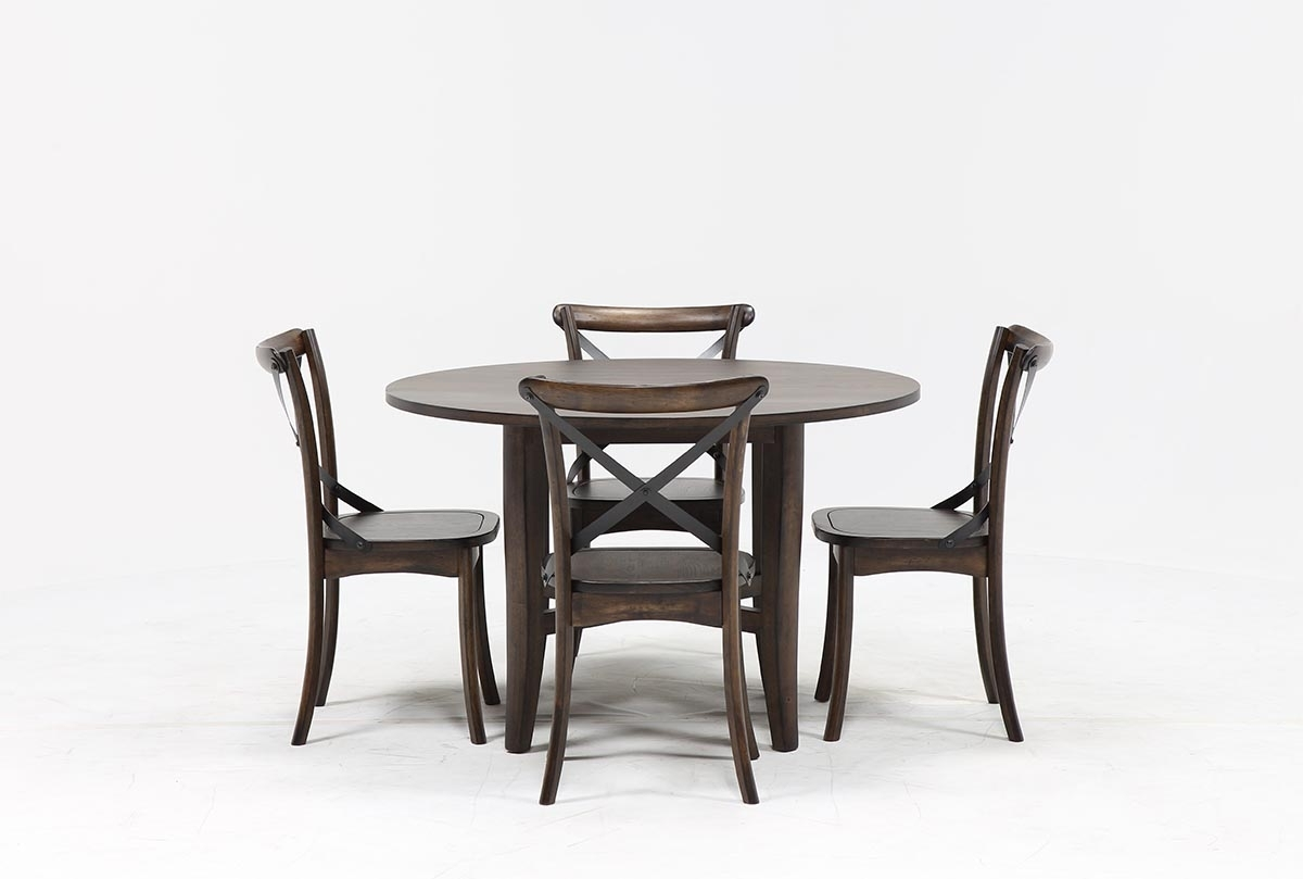 Popular Grady 5 Piece Round Dining Set (View 19 of 25)