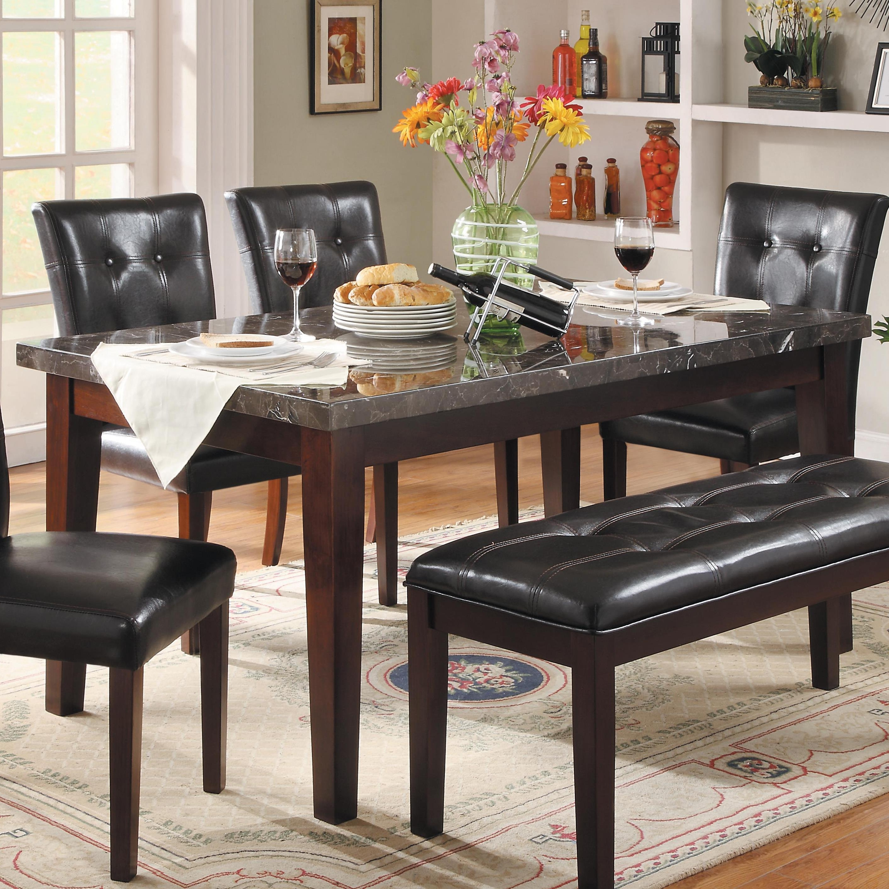 Popular Homelegance Decatur Dining Table With Marble Top (View 21 of 25)