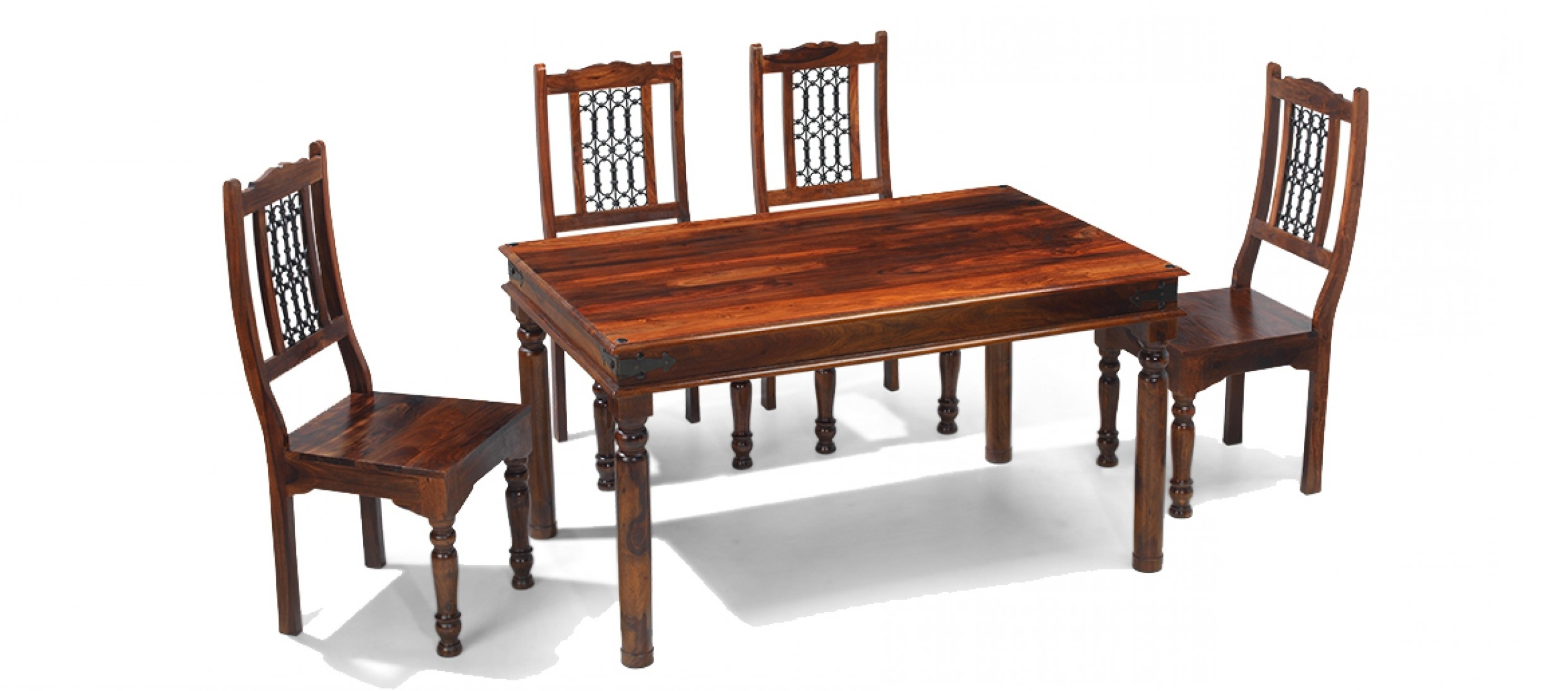 Popular Jali Sheesham 160 Cm Thakat Dining Table And 6 Chairs (View 14 of 25)