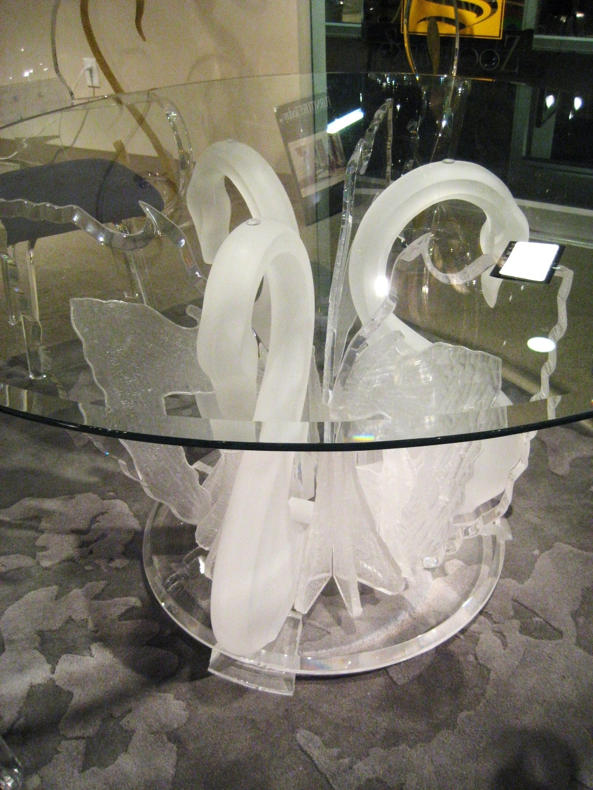 Popular Legend Swan Dinette, Acrylic Wall Art, Acrylic Furniture Within Round Acrylic Dining Tables (View 18 of 25)