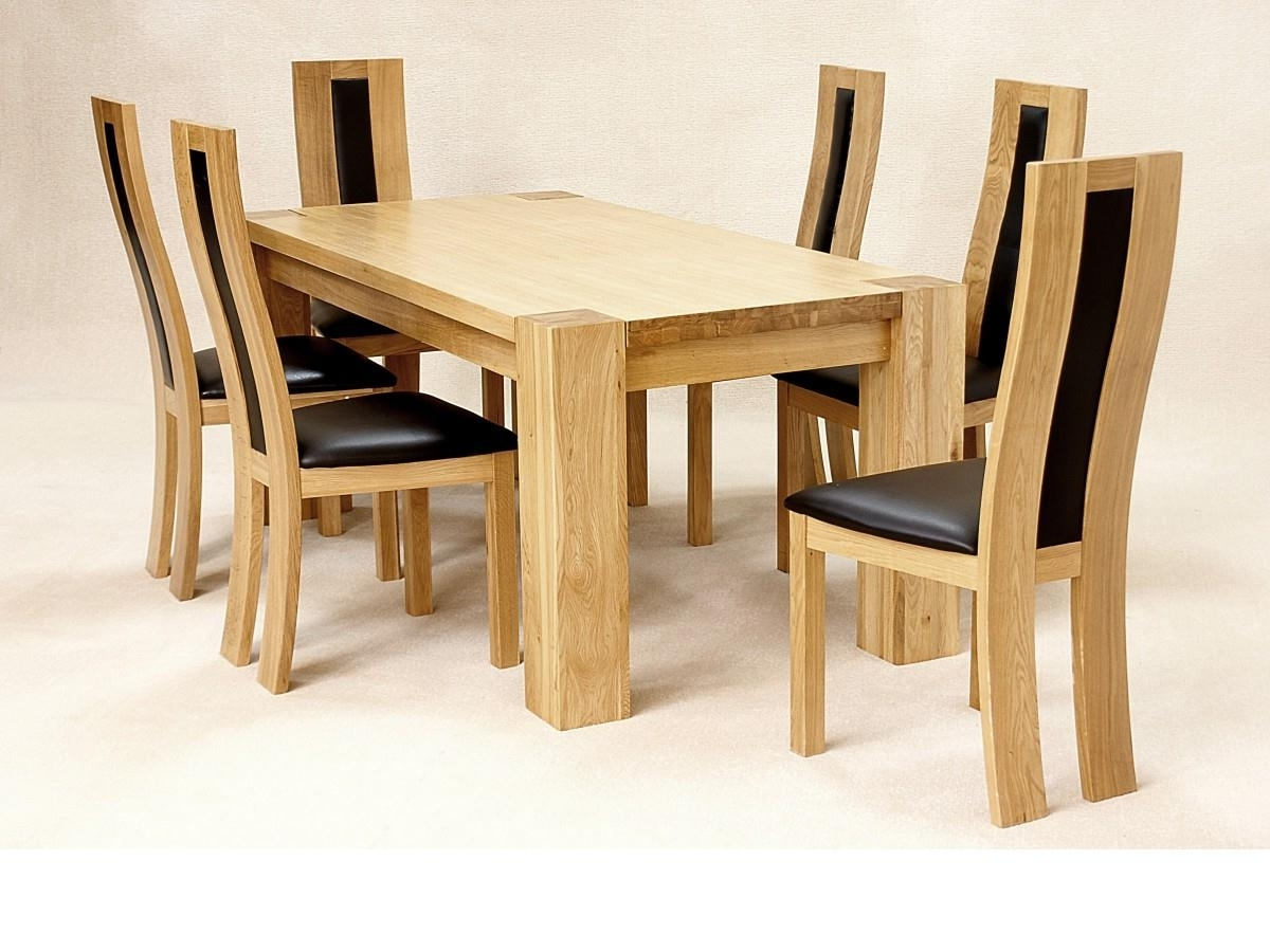 Popular Light Oak Dining Tables And Chairs Regarding Oak Dining Room Table And 6 Chairs Danish Modern Dining Chairs (View 11 of 25)