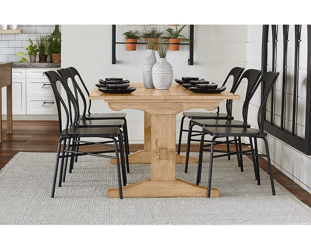 Popular Magnolia Home Sawbuck Dining Tables Pertaining To Kindred Trestle + Gaven – Magnolia Home (View 22 of 25)