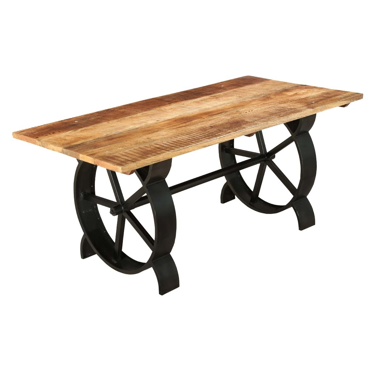 Popular Mango Wood/iron Dining Tables For Virginia Contemporary Handcrafted Iron And Mango Wood Dining Table (View 21 of 25)