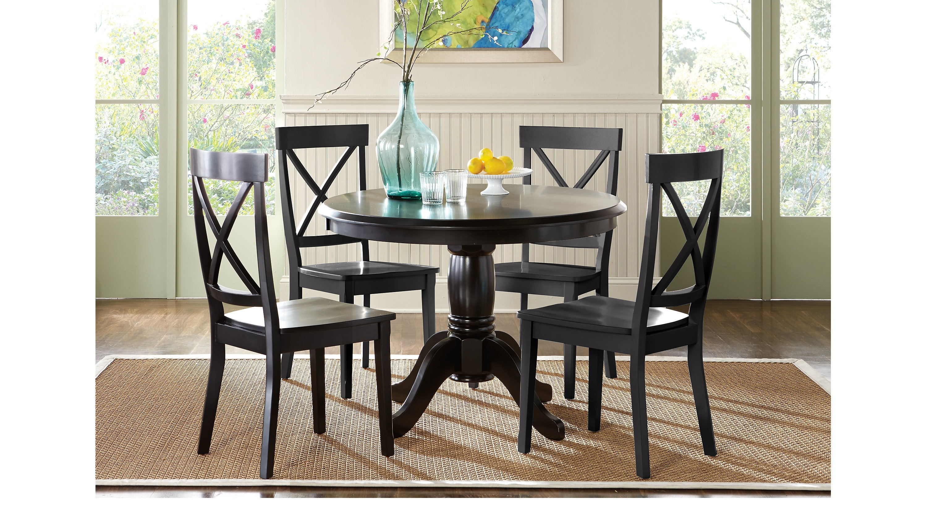 Popular Marvelous Round Dining Room Table With Brynwood Black 5 Pc Round In Caden 5 Piece Round Dining Sets (View 20 of 25)