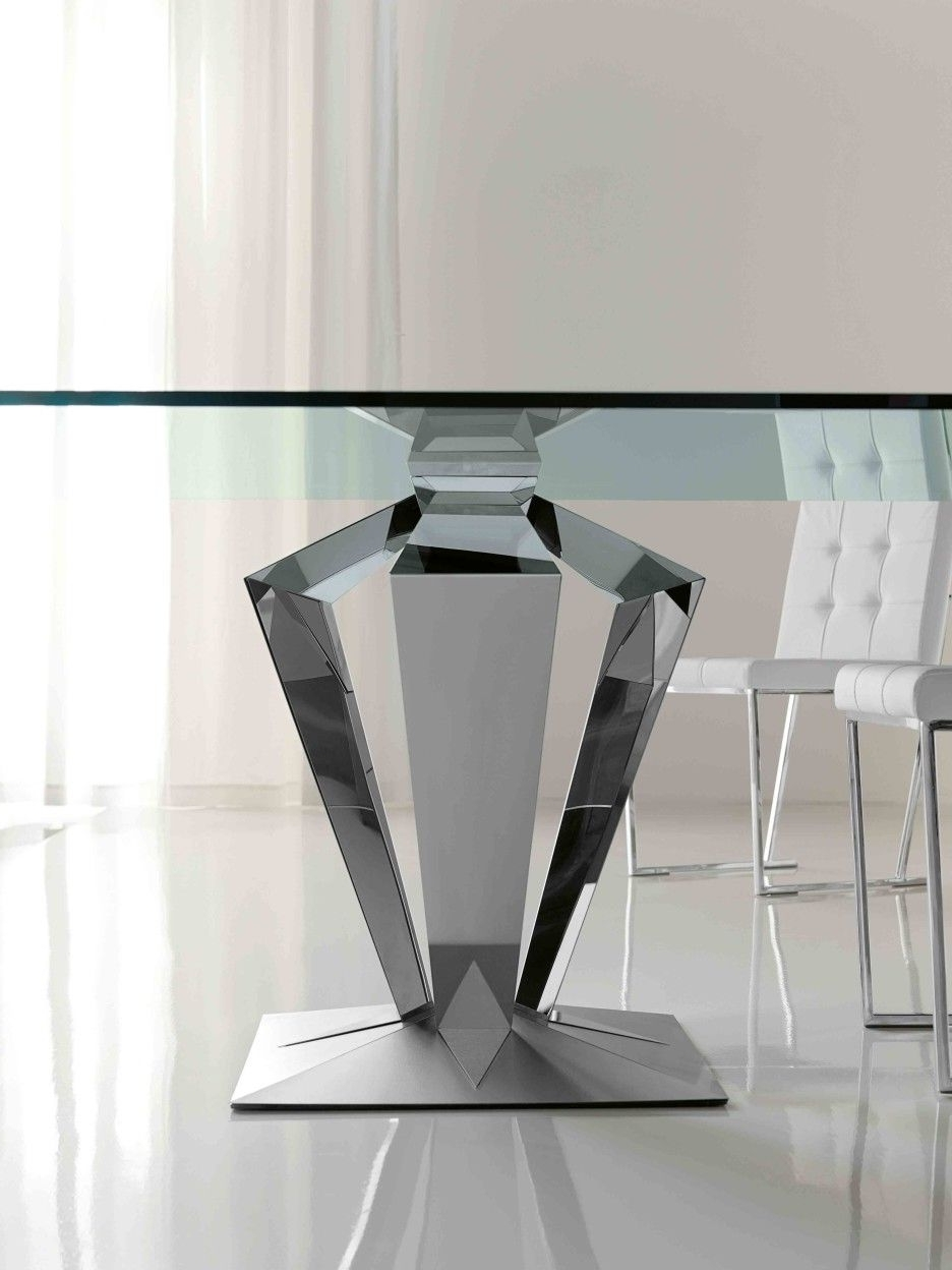 Popular Mirror Glass Dining Tables Within Furniture (View 16 of 25)