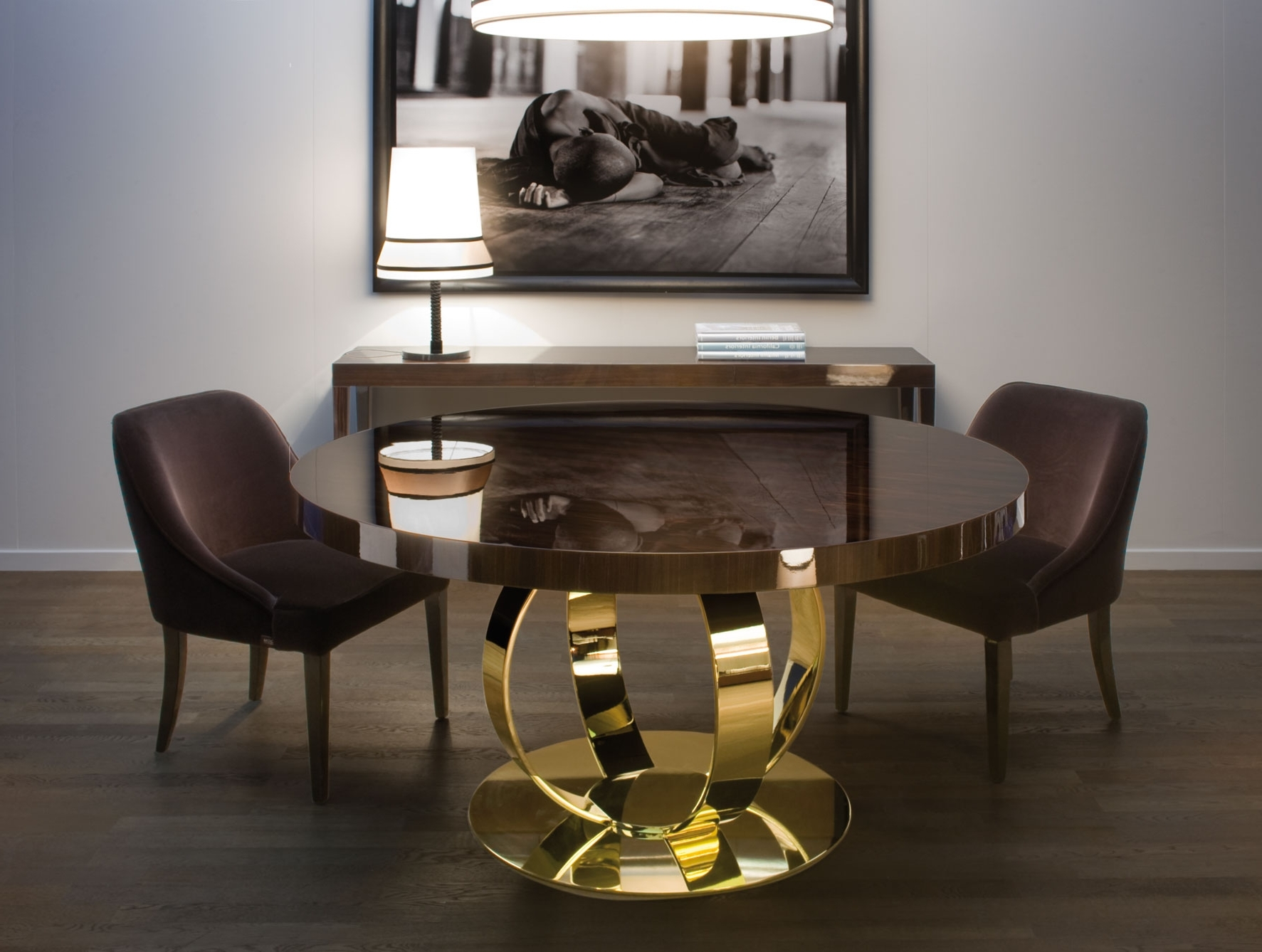 Popular Modern Dining Tables With Regard To Nella Vetrina Andrew Modern Italian Designer Round Wood Dining Table (View 19 of 25)