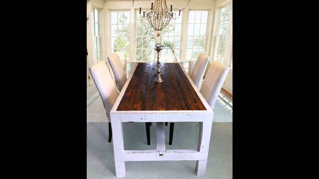 Popular Narrow Dining Tables Regarding Narrow Dining Table – Youtube (Gallery 8 of 25)