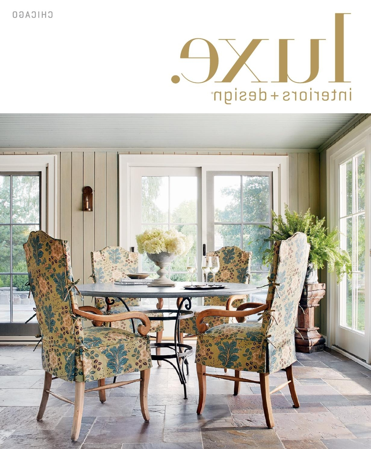 Popular Palazzo 7 Piece Dining Sets With Mindy Slipcovered Side Chairs With Regard To Luxe Magazine Summer 2015 Chicagosandow® – Issuu (View 22 of 25)