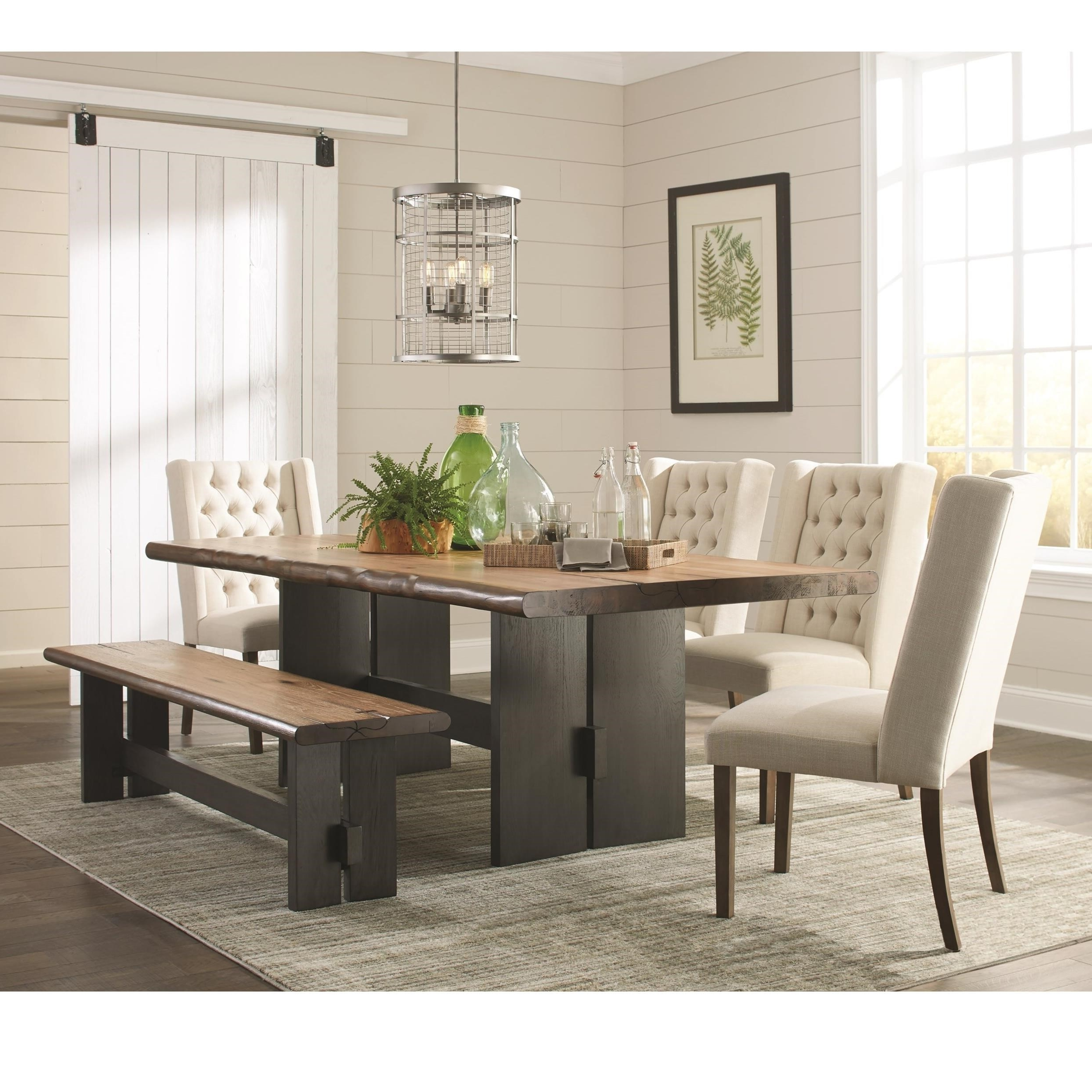 Popular Rectangular Dining Tables Sets With Coaster Marquette 5Pc Brown Rectangular Dining Table Set Dallas Tx (View 15 of 25)