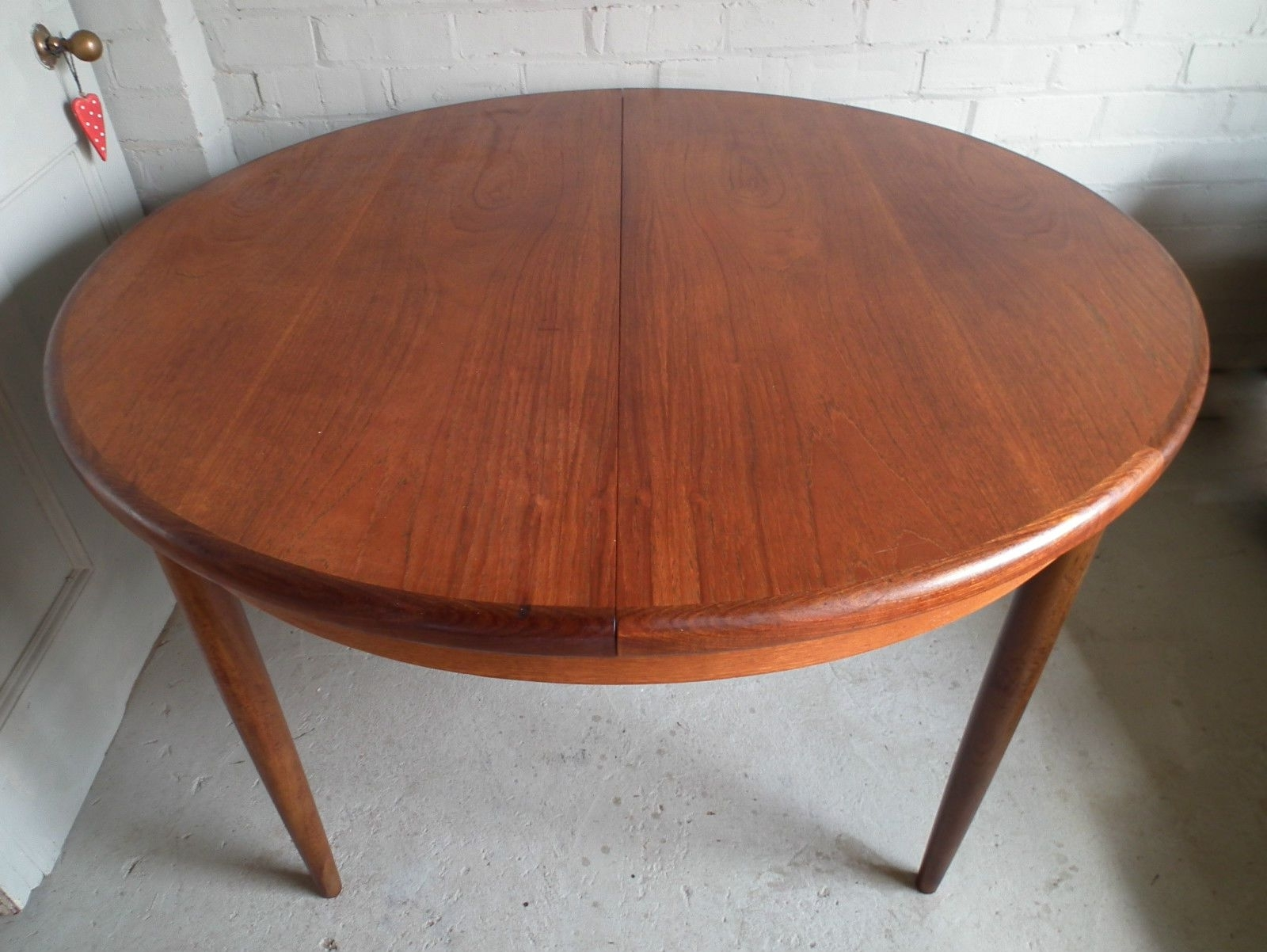 Popular Retro Extending Dining Tables Intended For Vintage Retro Teak G Plan Fresco Round Extending Dining Table 60S (View 15 of 25)