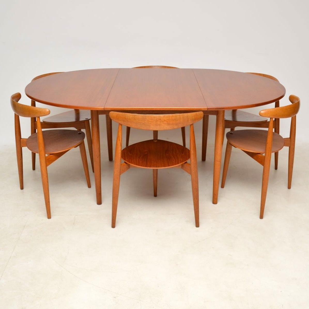Popular Second Hand Oak Dining Chairs With 1950's Danish Teak & Oak Dining Table & Chairshans Wegner For (View 17 of 25)