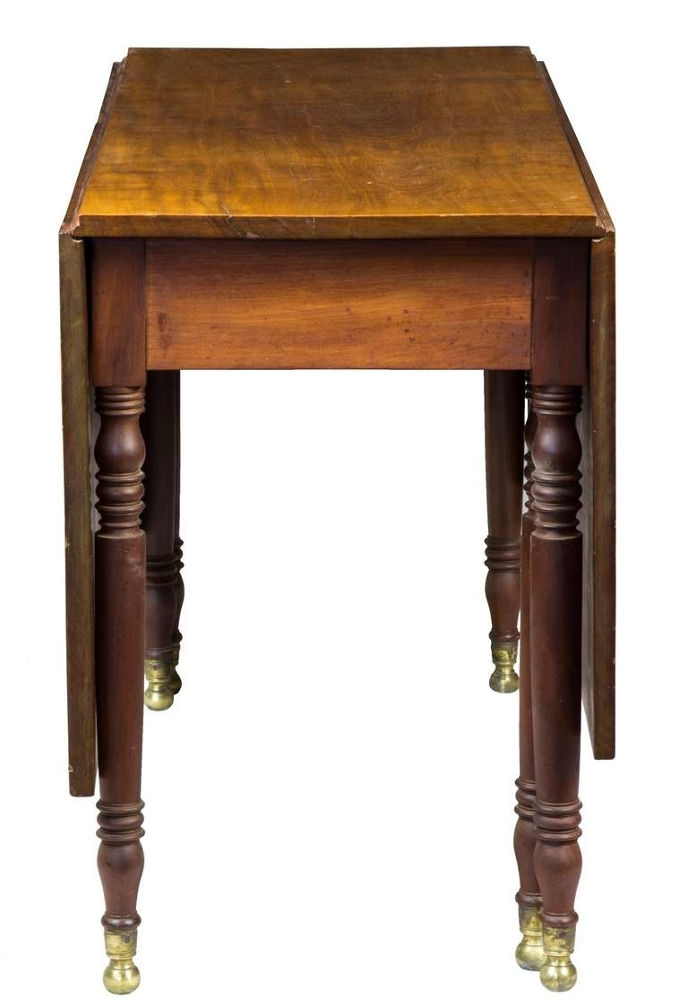 Popular Sheraton Mahogany Dining Table, New York, Circa 1810 For Sale At 1Stdibs Pertaining To Dining Tables New York (View 16 of 25)