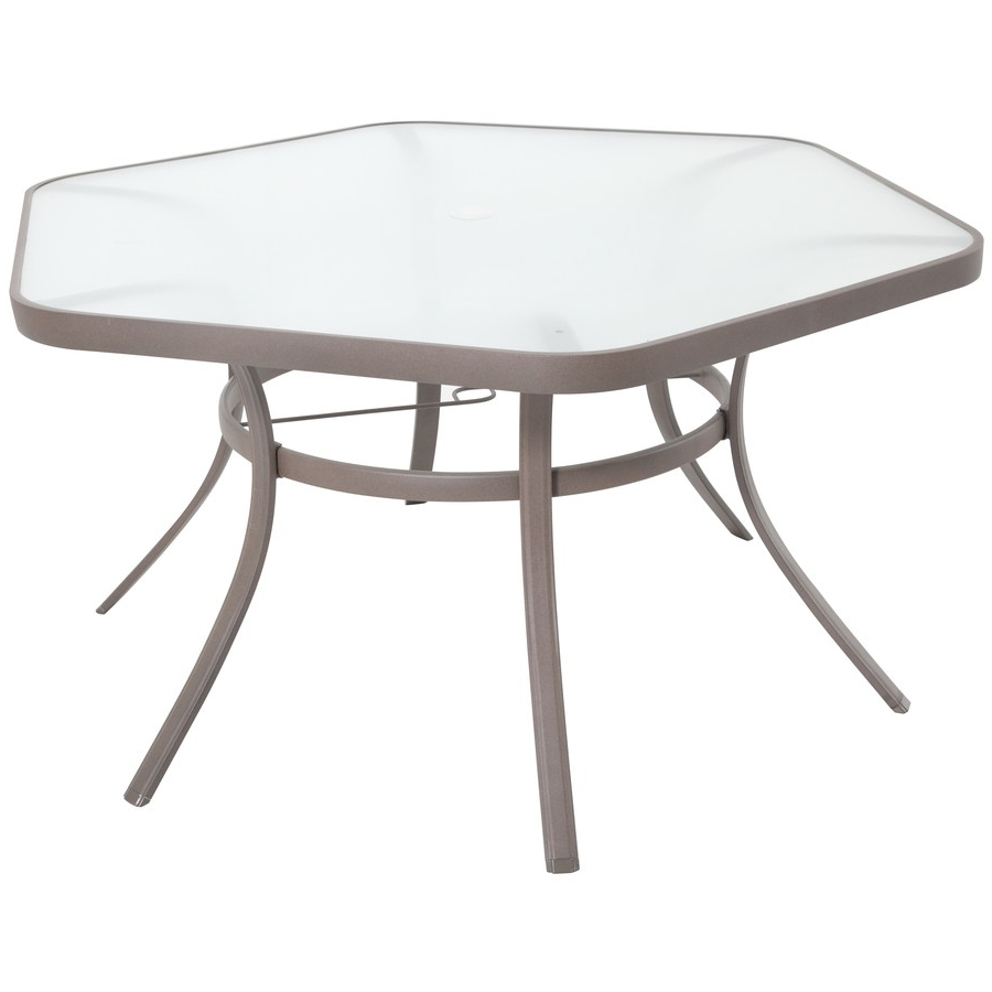 Popular Shop Garden Treasures Hayden Island Hexagon Dining Table At Lowes Pertaining To Hayden Dining Tables (View 19 of 25)