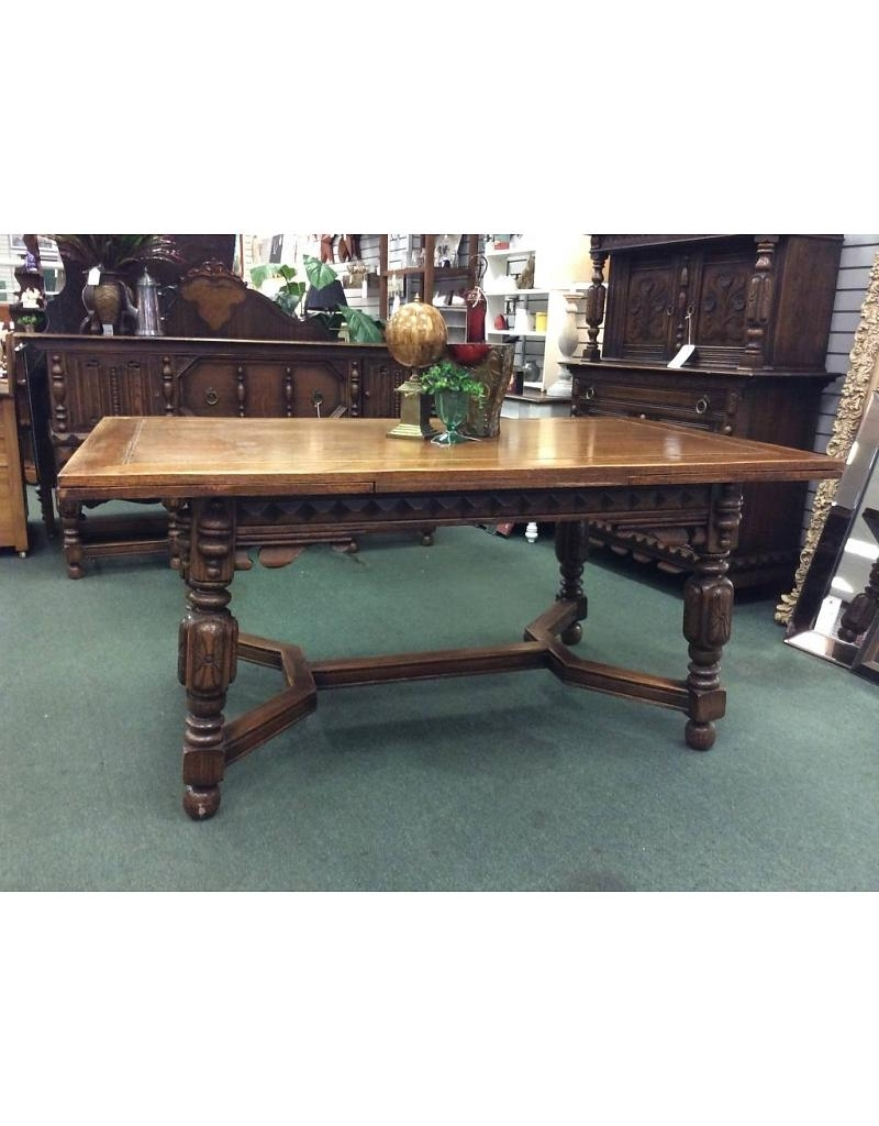 Popular Solid Oak Jacobean Style Dining Table & 6 Chairs – Heirloom Home Within Dining Tables And 6 Chairs (View 23 of 25)