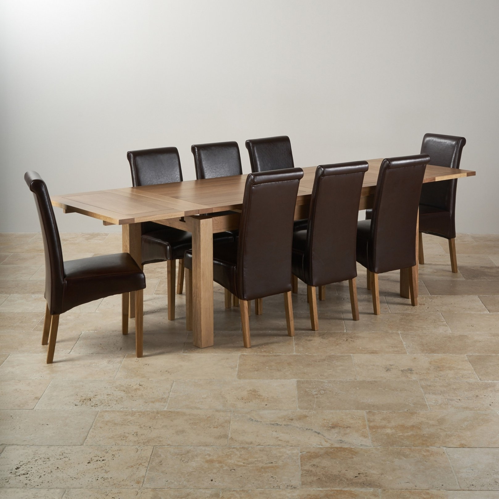 Popular Sophisticated Dorset Oak Dining Set 6Ft Table With 8 Chairs For For In Oak Dining Tables 8 Chairs (View 17 of 25)