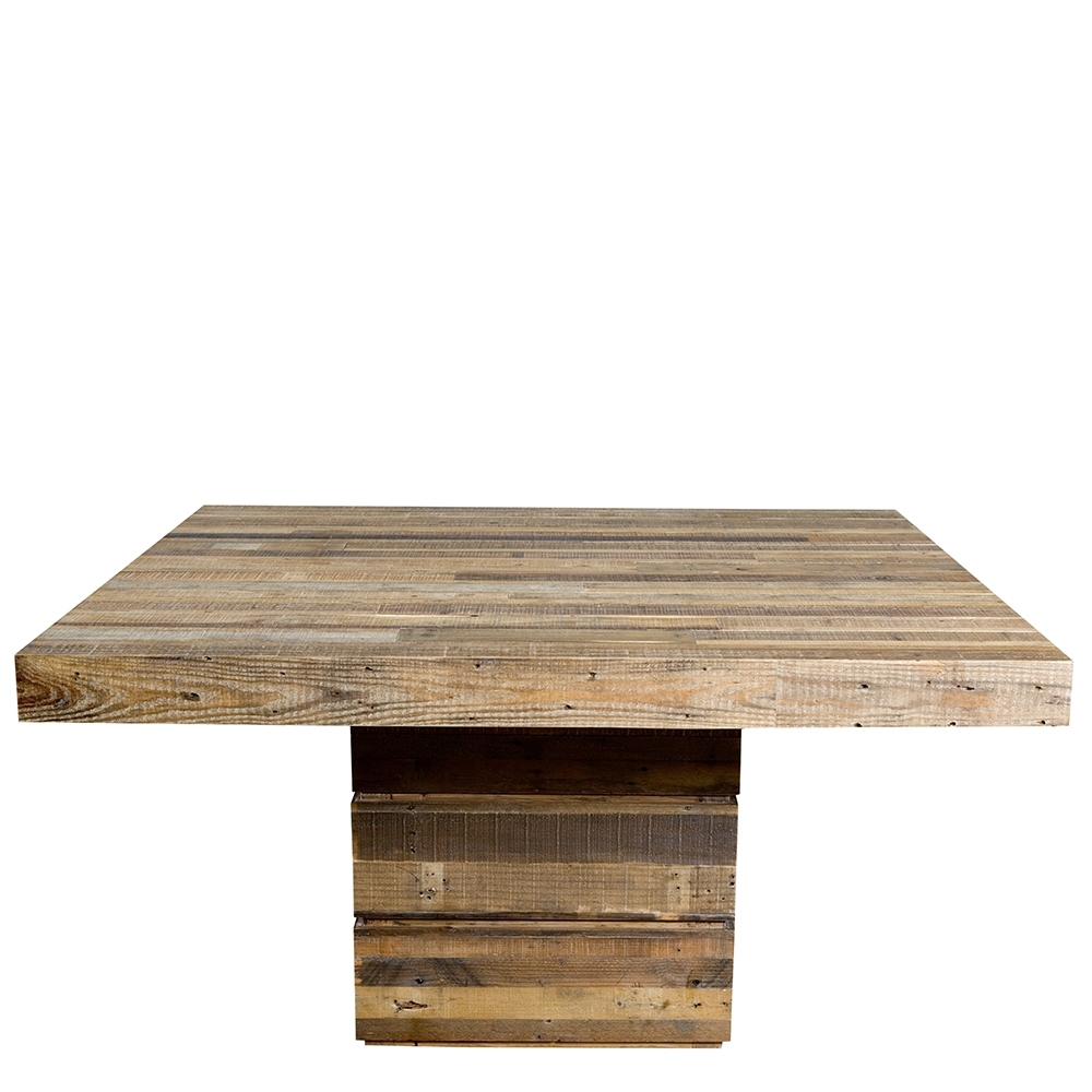 Popular Square Dining Tables Intended For The San Quentin Tahoe Square Dining Table – Rustic Dining Table (View 13 of 25)
