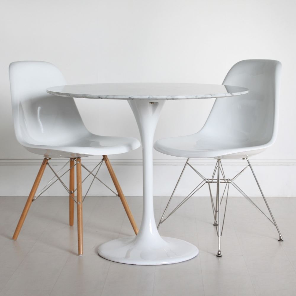 Popular Tulip Marble Table 90Cm – The Natural Furniture Company Ltd Regarding Round White Dining Tables (View 16 of 25)