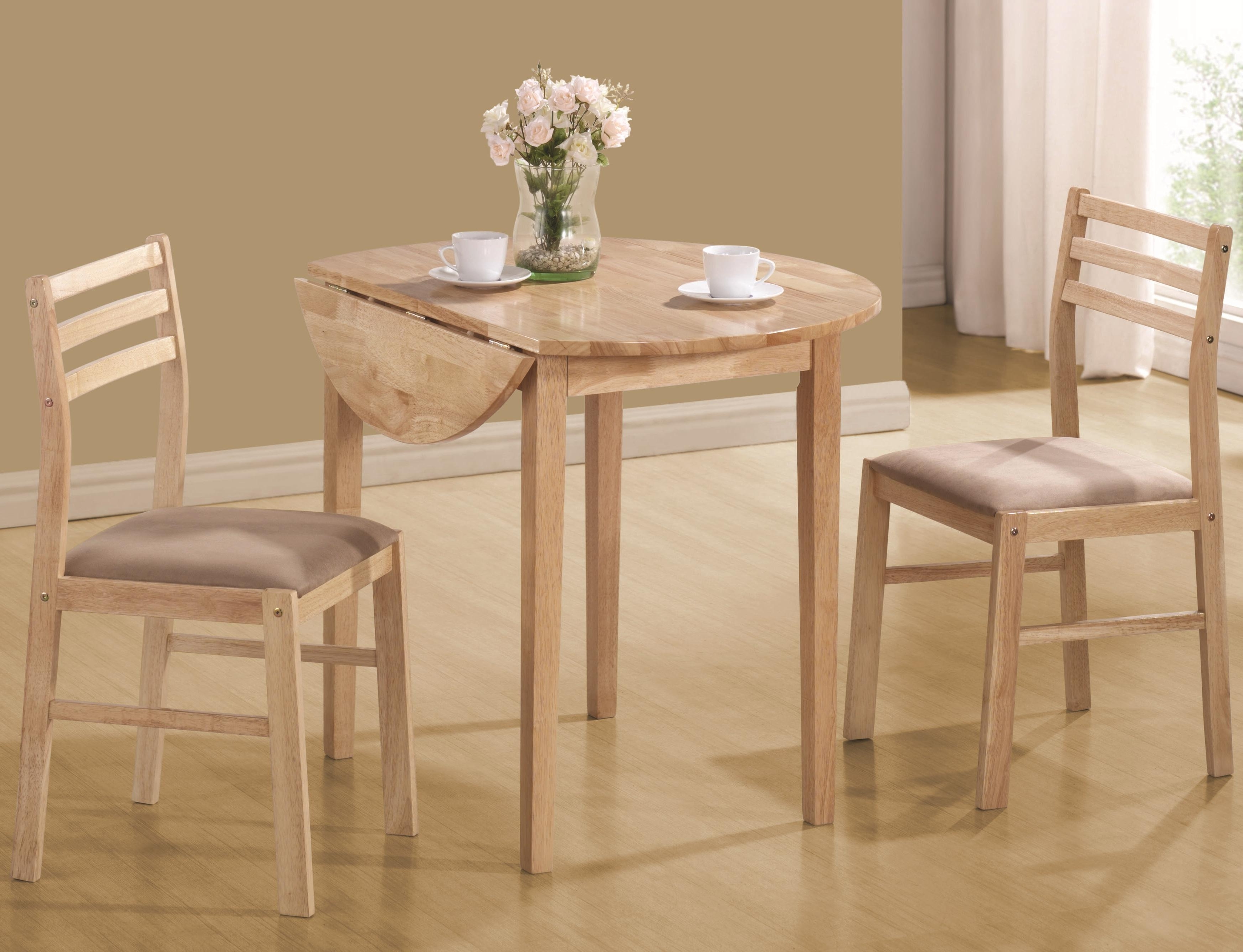 Popular Two Person Dining Table Sets Inside Casual 3 Piece Table & Chair Setcoaster (Gallery 17 of 25)