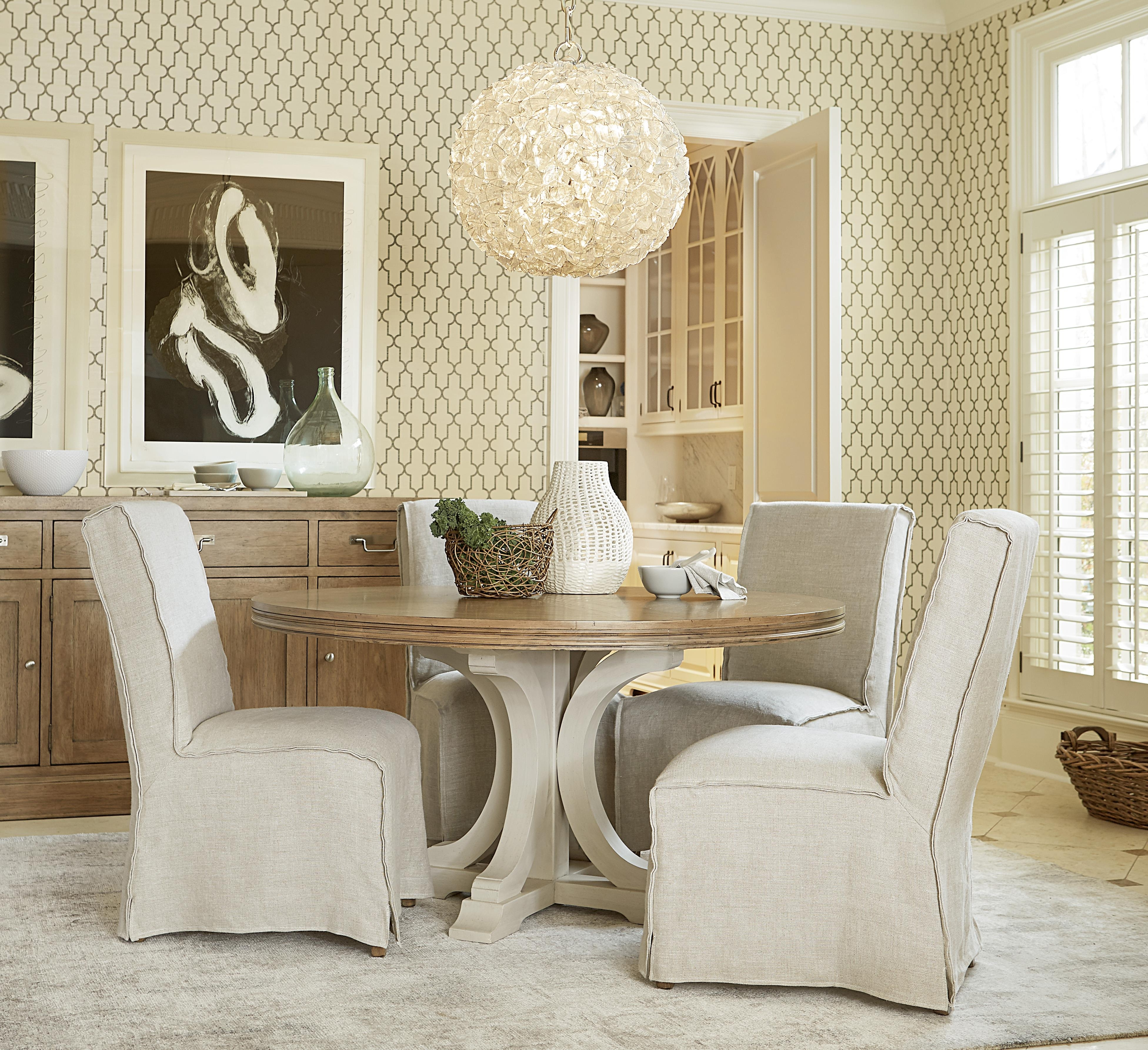 Popular Universal Moderne Muse Round Dining Table With Pedestal Base With Regard To Universal Dining Tables (Gallery 19 of 25)
