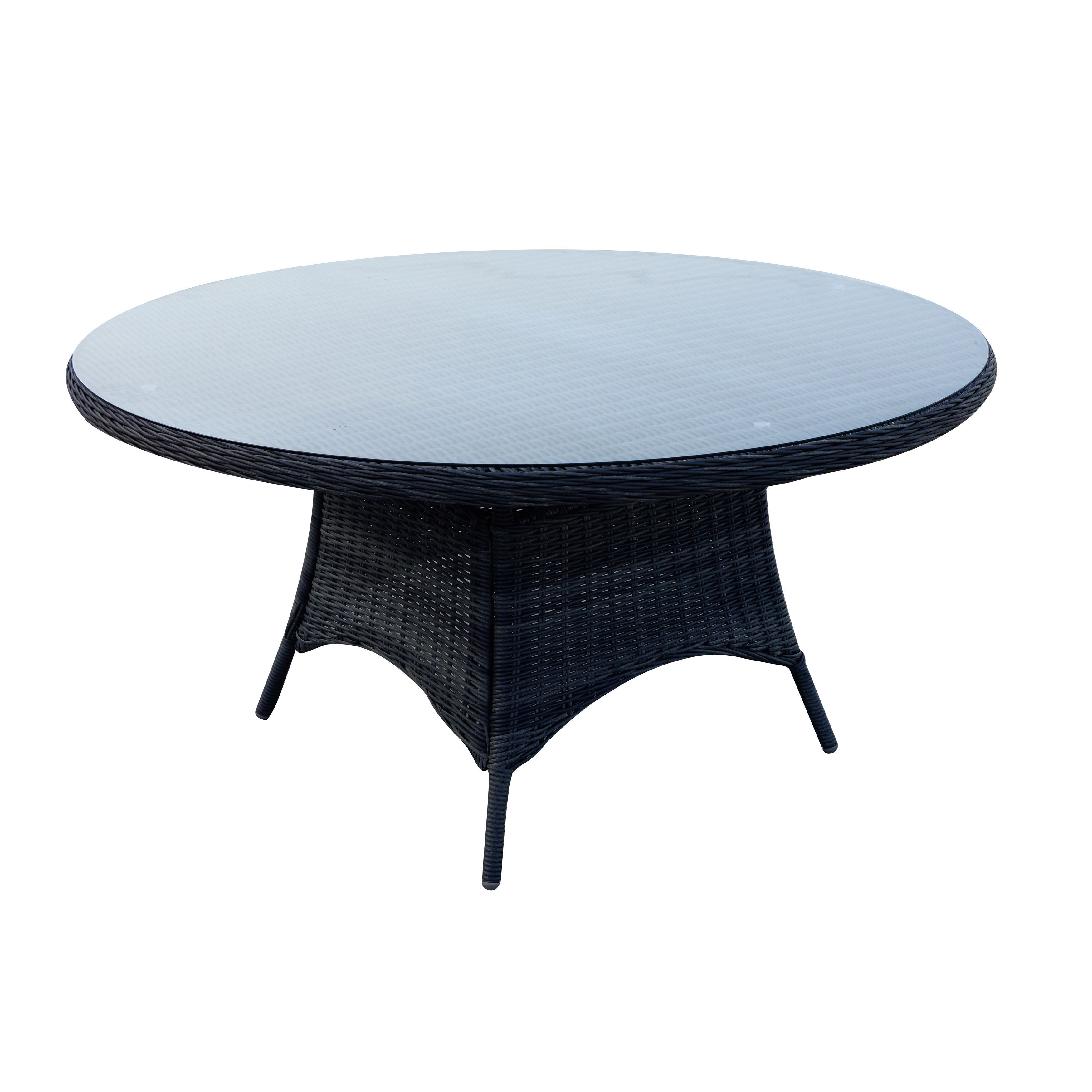 Popular Valencia 60 Inch Round Dining Tables With Shop Darlee Valencia Charcoal Wicker 7 Piece Dining Set With (View 15 of 25)