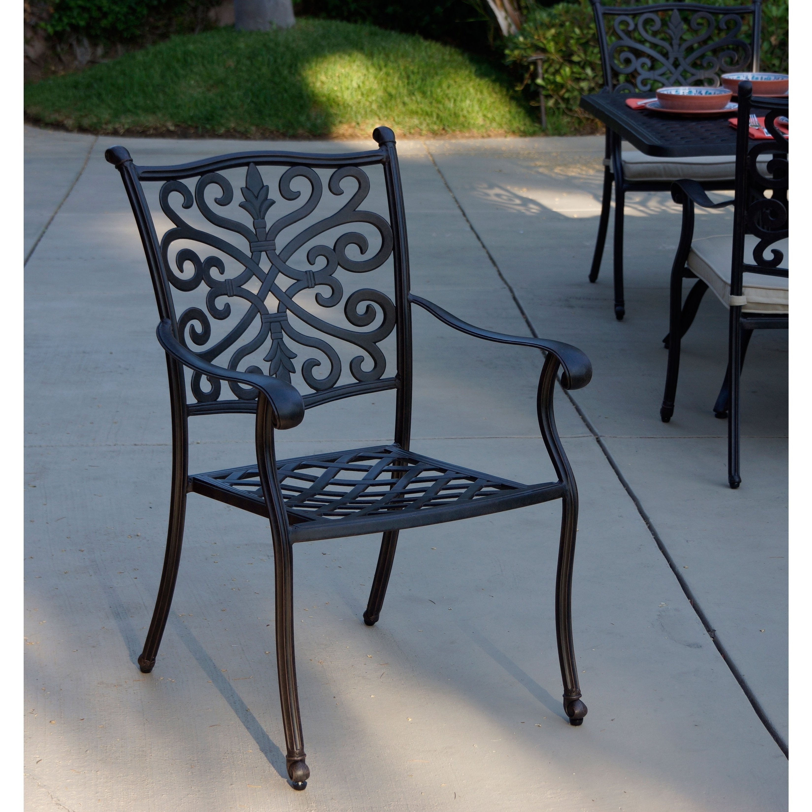 Popular Valencia 72 Inch 6 Piece Dining Sets Regarding Black Outdoor Dining Sets For Less (View 13 of 25)