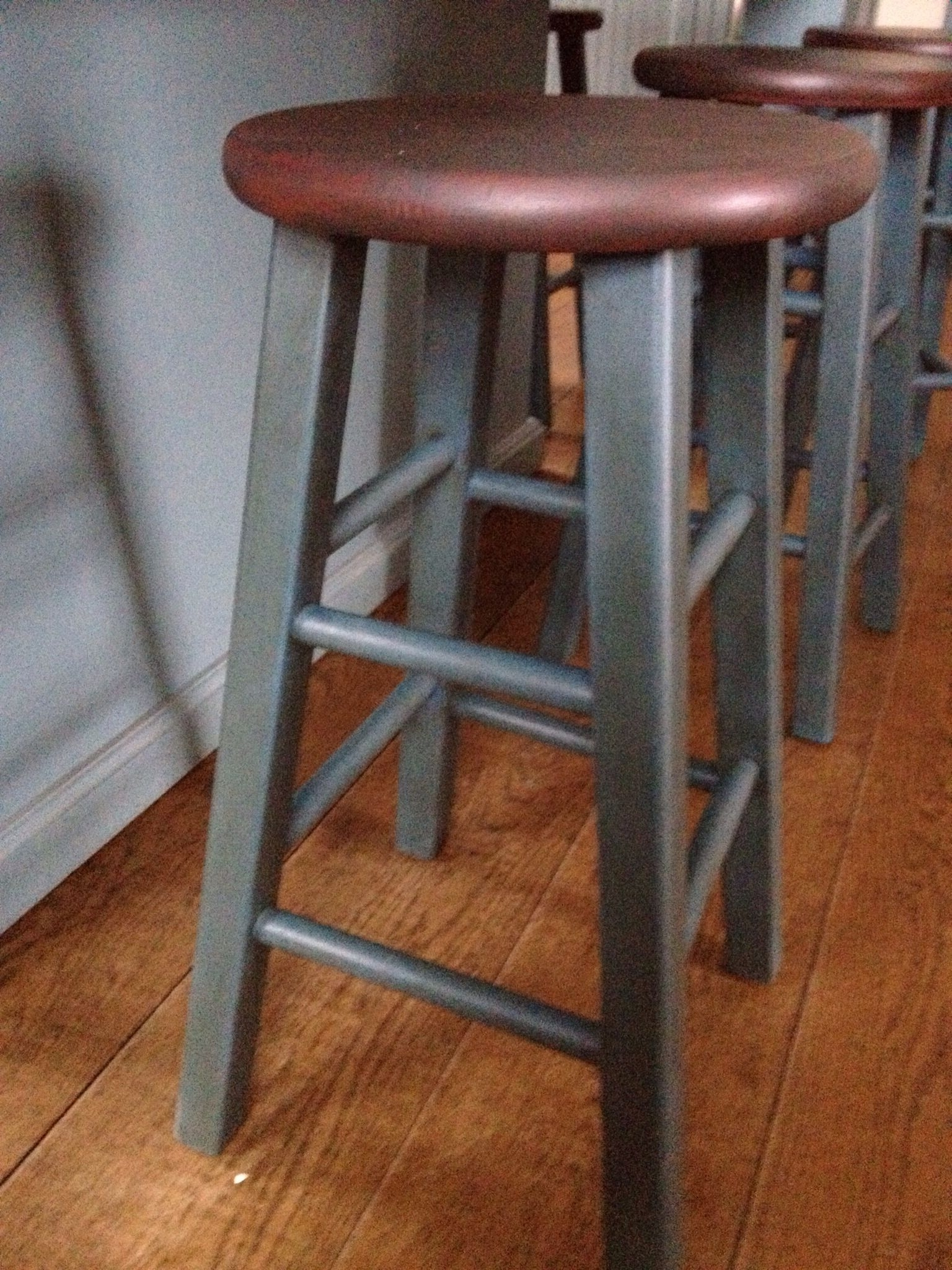 Popular Washed Old Oak & Waxed Black Legs Bar Tables Inside As Chalk Paint Stool (View 16 of 25)