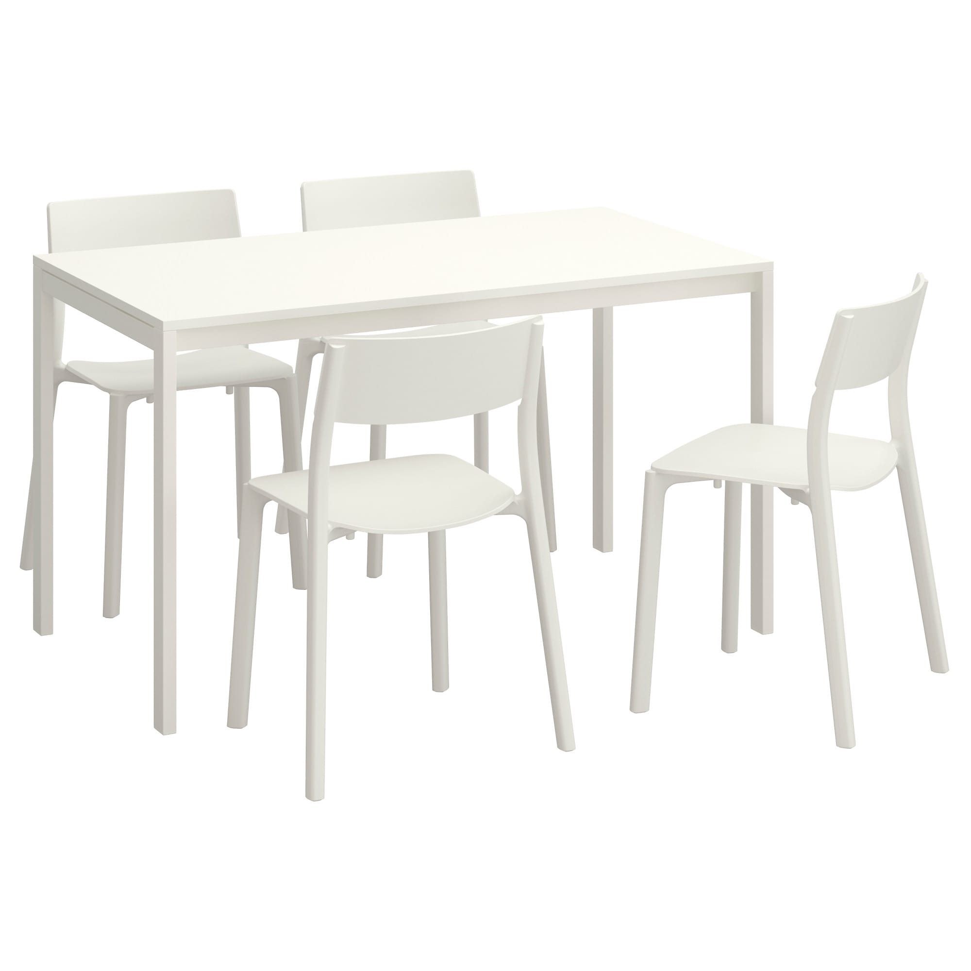 Popular White Melamine Dining Tables For Melltorp / Janinge Table And 4 Chairs – Ikea (View 24 of 25)