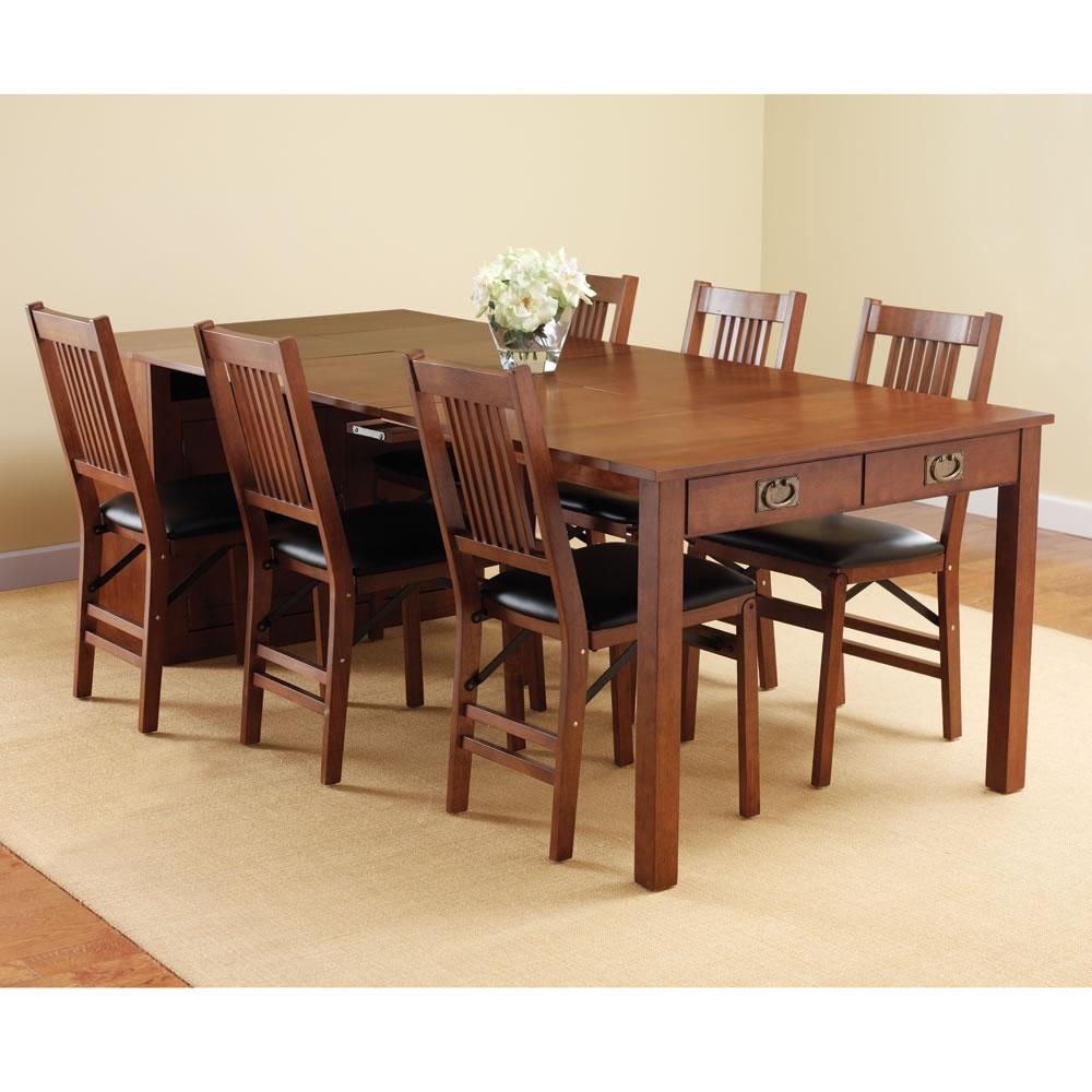 Popular Wood Folding Dining Tables Regarding Wooden Folding Dining Tables Indoor Wicker Dining Chairs (View 5 of 25)