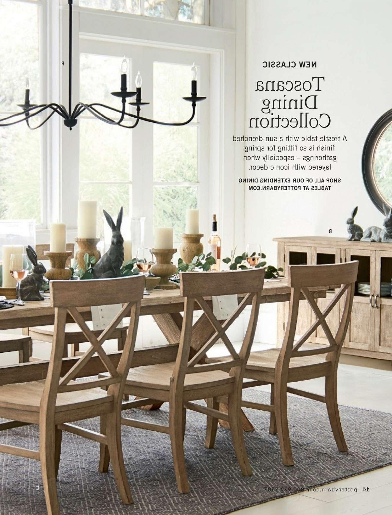 Pottery Barn Leather Sofa Craigslist Best Of Pottery Barn Dining Throughout Latest Toscana Dining Tables (View 11 of 25)