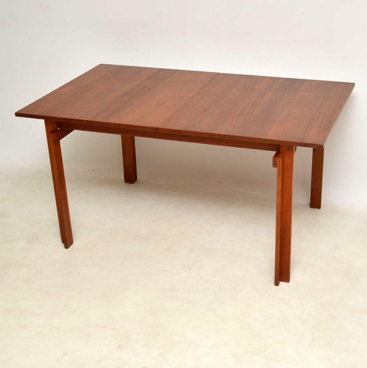 Preferred 1960's Vintage Danish Teak Dining Tableinger Klingenberg For Pertaining To Danish Dining Tables (View 19 of 25)
