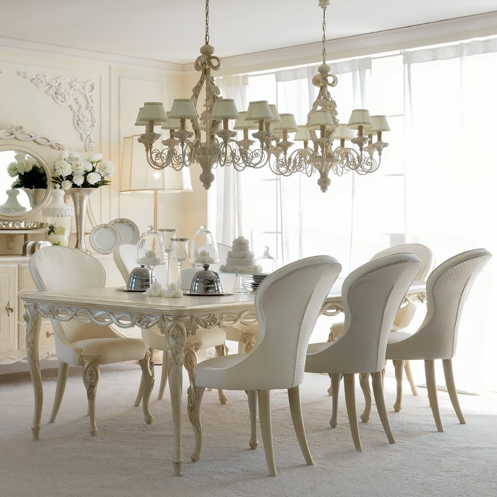 Preferred 8 Seater Round Dining Table And Chairs Inside Luxurious Designer Rectangle Italian 8 Seat Dining Table Set (View 23 of 25)