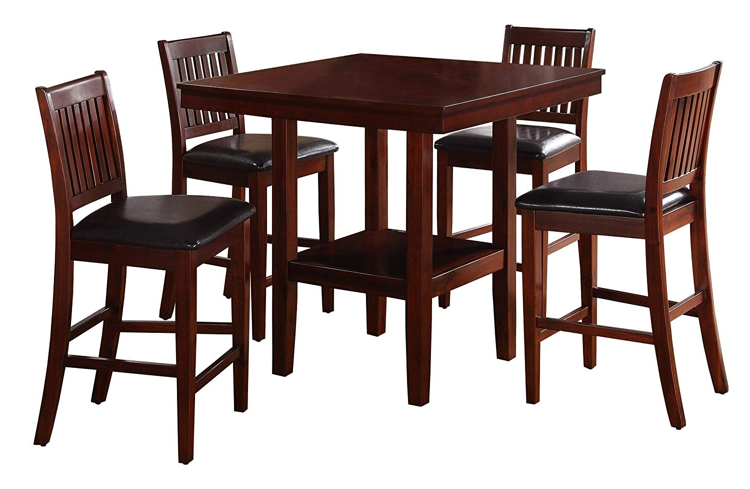Preferred Amazon – Homelegance Galena 5 Piece Counter Height Dining Set Throughout Pierce 5 Piece Counter Sets (View 19 of 25)