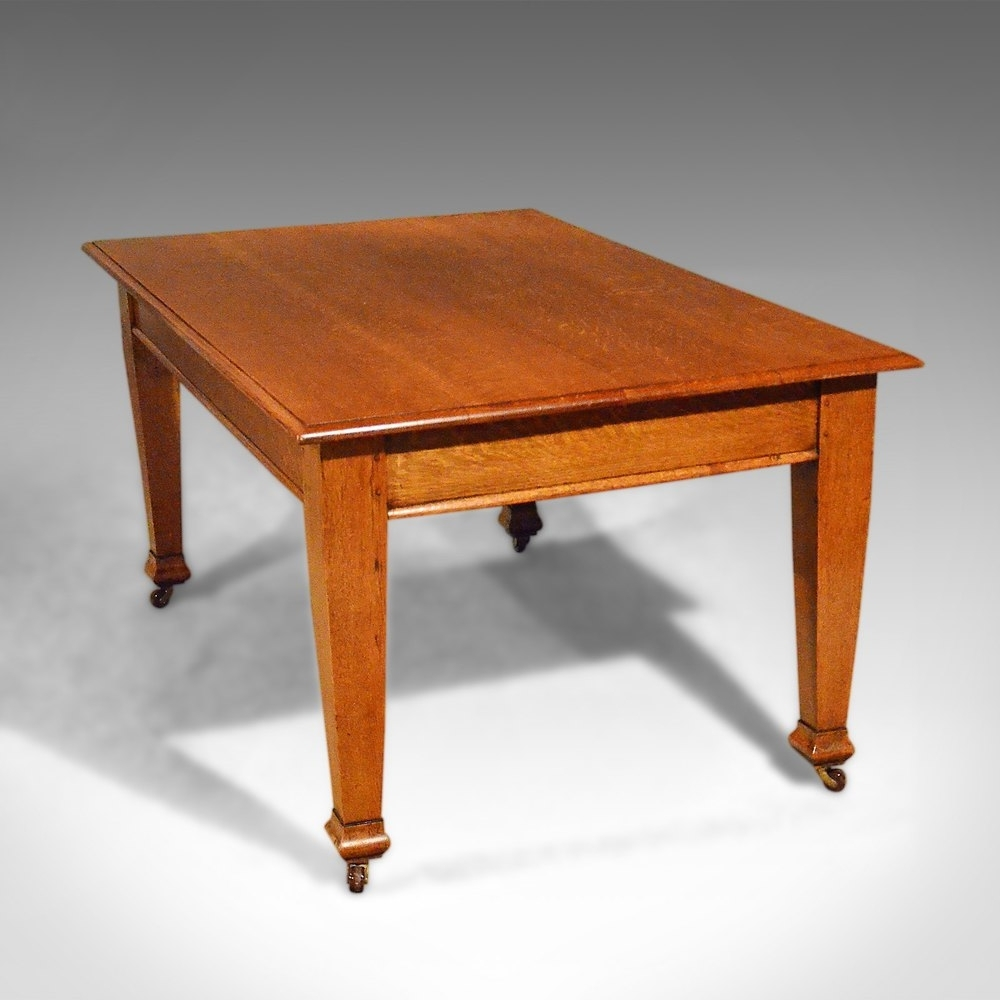 Preferred Antique Dining Table, Six Seat, English, Oak (View 19 of 25)