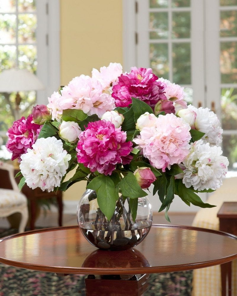 Preferred Artificial Floral Arrangements For Dining Tables Intended For Silk Floral Centerpieces Silk Floral Centerpieces The (View 19 of 25)