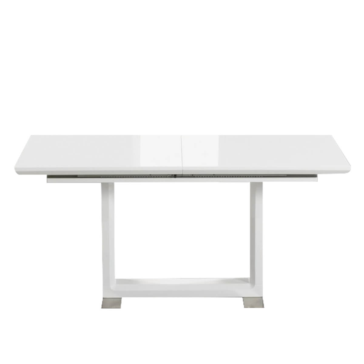 Preferred Beckley 6 8 Seater White High Gloss Extending Dining Table Inside White Gloss Dining Tables 140Cm (View 22 of 25)