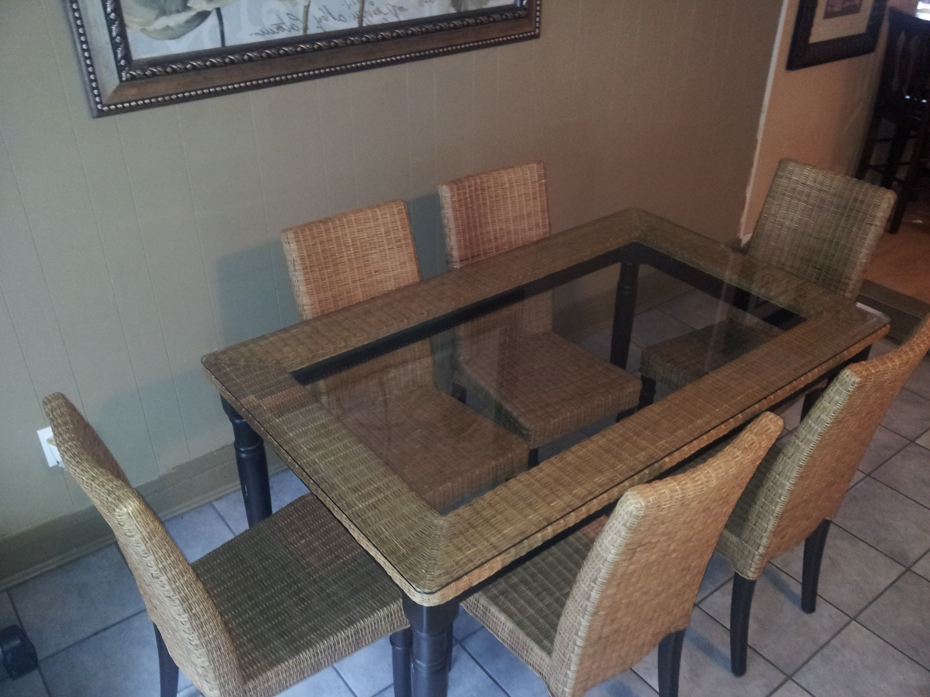 Preferred Best Powerful Photos Wicker Dining Table With Glass Top On A Budget Pertaining To Wicker And Glass Dining Tables (View 5 of 25)