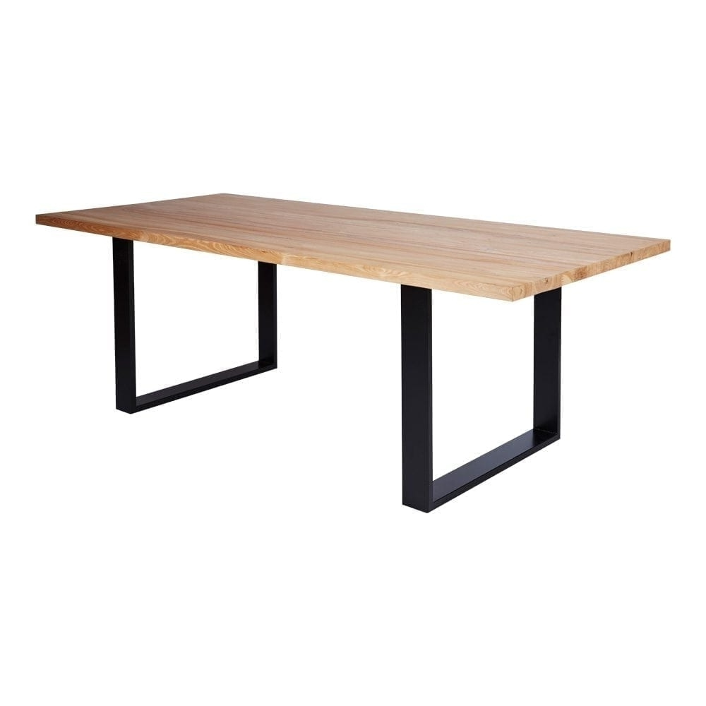 Preferred Black Dining Tables With Regard To Designer Industrial Pyrmont Wooden Dining Table  Black Steel Legs (Gallery 22 of 25)
