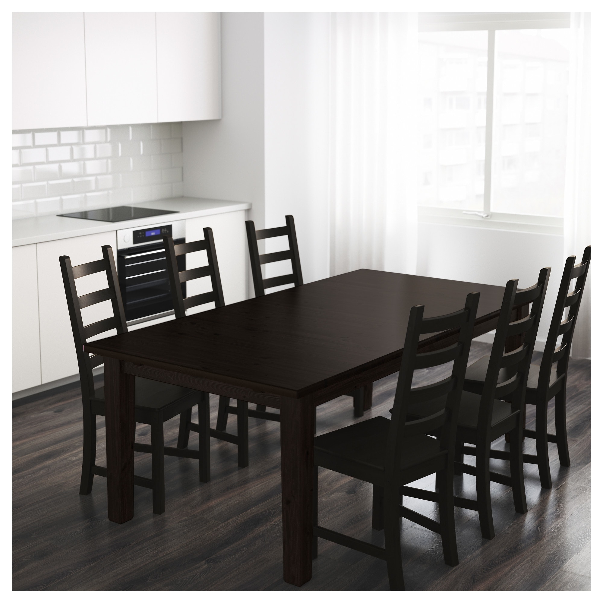 Preferred Black Extending Dining Tables In Stornäs Extendable Table Brown Black 201/247/293 X 105 Cm – Ikea (Gallery 18 of 25)