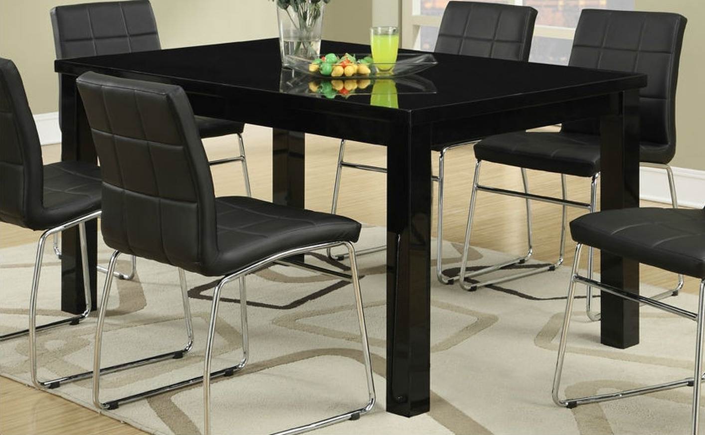 Preferred Black Wood Dining Table – Steal A Sofa Furniture Outlet Los Angeles Ca With Regard To Dark Wooden Dining Tables (View 13 of 25)