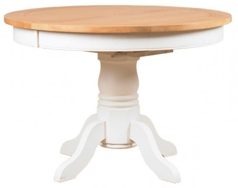 Preferred Buy Mark Webster Padstow Painted Round Extending Dining Table Intended For White Round Extending Dining Tables (Gallery 16 of 25)
