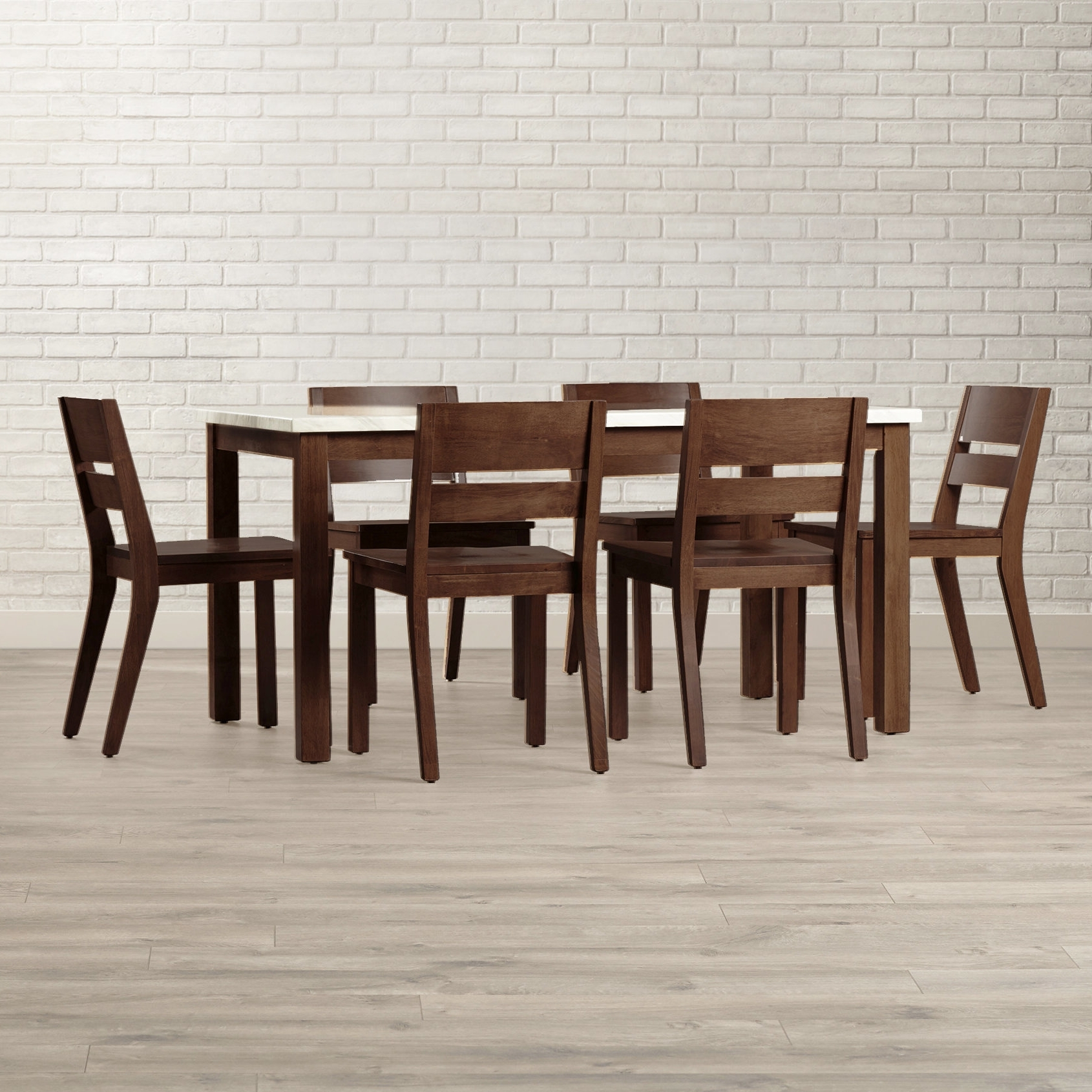 Preferred Candice Ii 7 Piece Extension Rectangular Dining Sets With Slat Back Side Chairs Throughout Brayden Studio Losey 7 Piece Dining Set & Reviews (View 3 of 25)