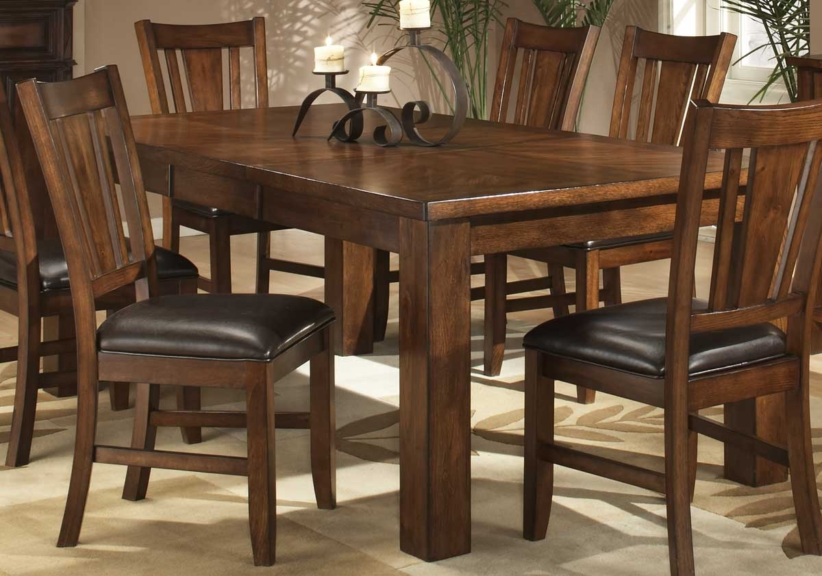 Preferred Dark Dining Room Tables With Regard To Homelegance Fusion Dining Table Dark Oak 986  (View 18 of 25)
