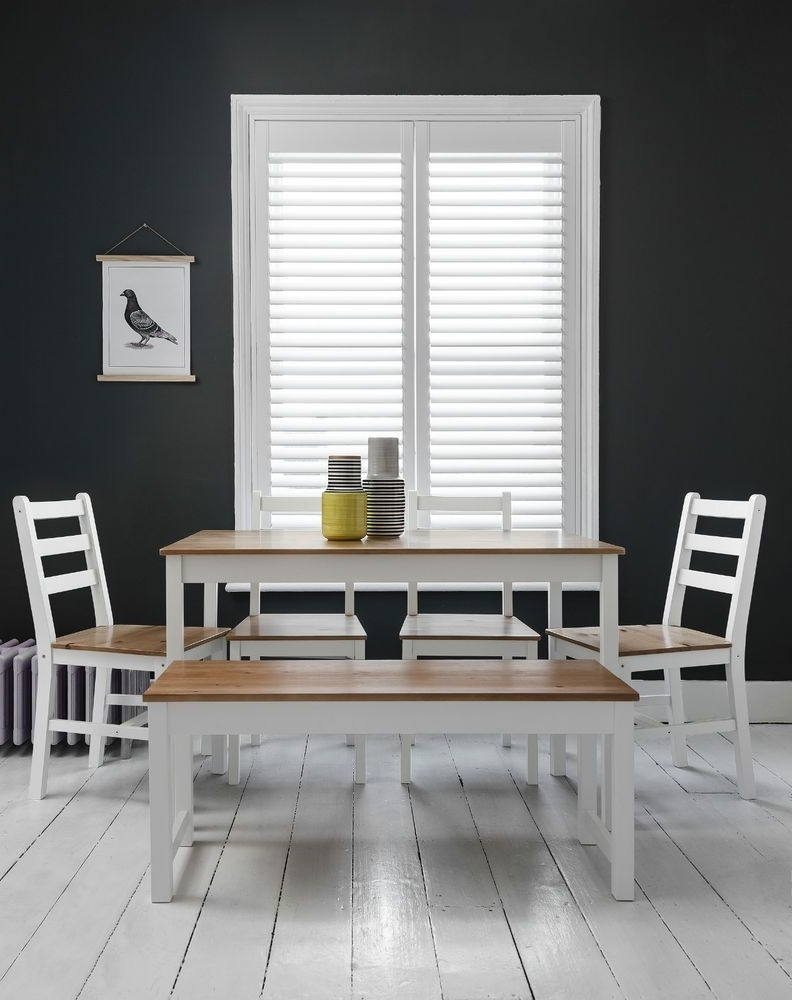 Preferred Dining Table With 2 Benches Dining Set In Choice Of Colours Kitchen Pertaining To Ebay Dining Suites (View 17 of 25)