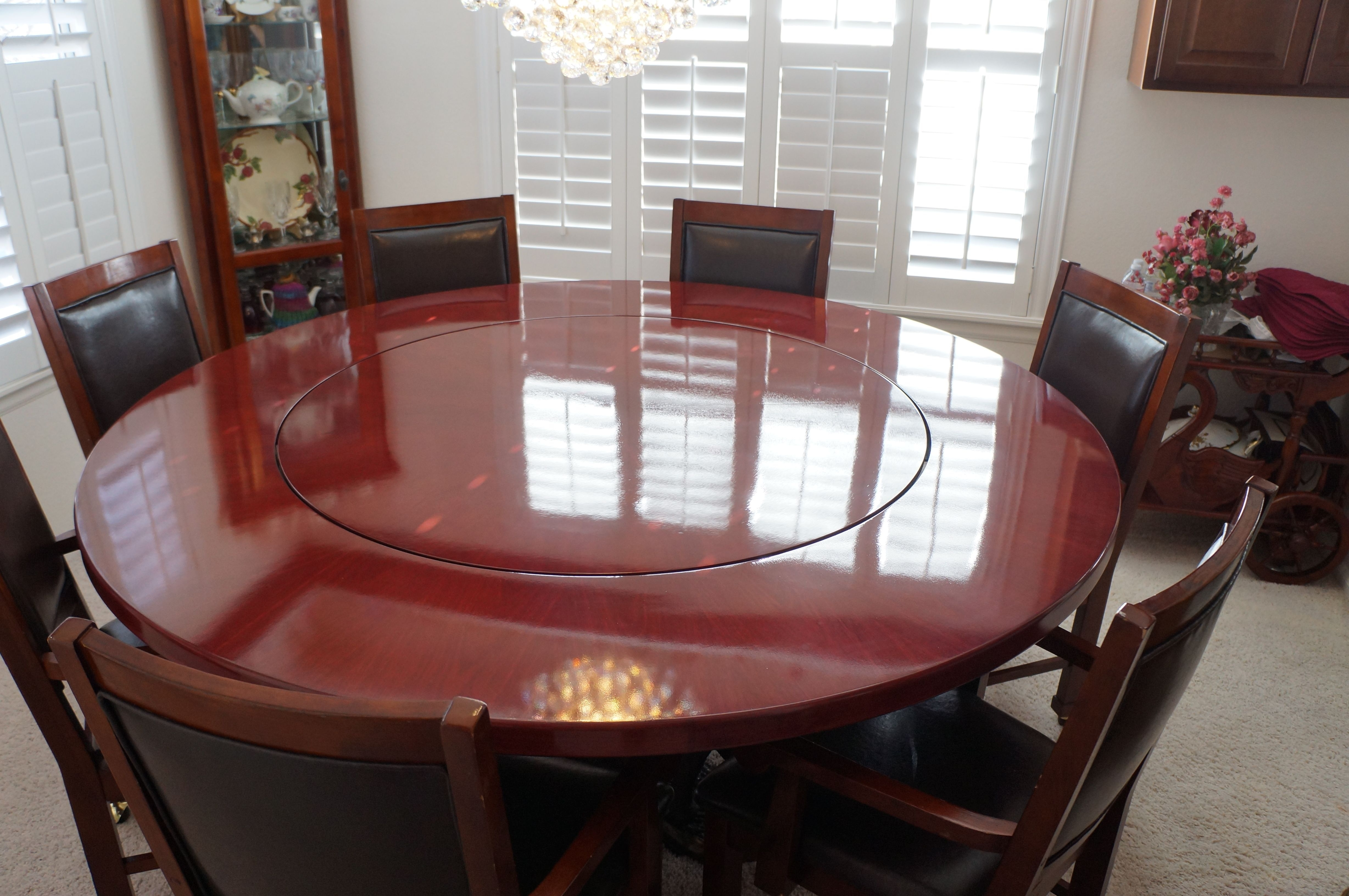 Preferred Dining Tables And Purple Chairs Within Custom Made Purple Heart Dining Tablegerspach Handcrafted (Gallery 19 of 25)